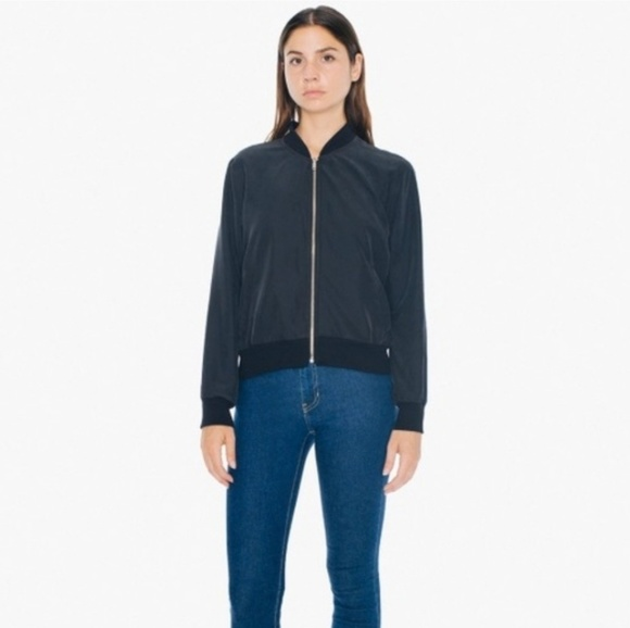 American Apparel Jackets & Blazers - American apparel bomber jacket size medium